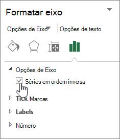 Opção de ordem inversa de série 3D