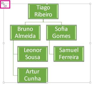 Redimensionar um organograma