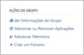 Ver ligação para Informações do Grupo