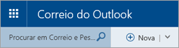 Barra de menus do Correio do Outlook
