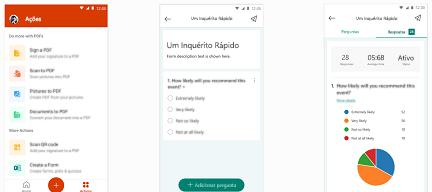 Formulários na aplicação do Office para dispositivos móveis