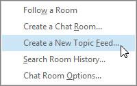 Criar um novo feed de tópico