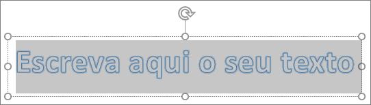 Texto de marcador de posição de WordArt