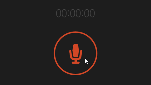 Botão de gravação