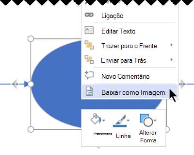 Clique com o botão direito do rato na seleção e, em seguida, selecionar Transferir Como Imagem.