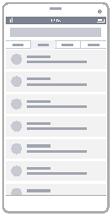 Diagrama de Wireframe de Lista