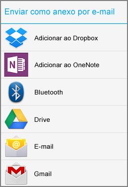 Enviar por em-mail como anexo