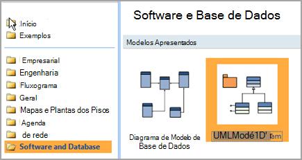 Selecionar software e base de dados