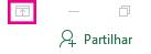 O ícone Mostrar Opções do Friso