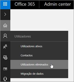 Selecione Utilizadores > Utilizadores eliminados.
