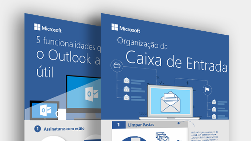 Transfira estes infográficos do Outlook