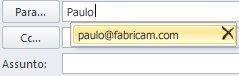 Lista de conclusão automática com ícone de eliminação