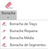 O PowerPoint para Office 365 tem quatro borrachas para tinta digital.