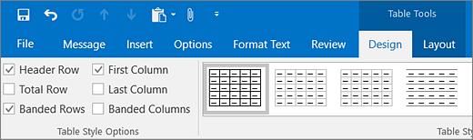 Captura de ecrã a mostrar a caixa de verificação Linha de Cabeçalho