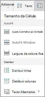 Opções de ajuste automático do Windows Mobile