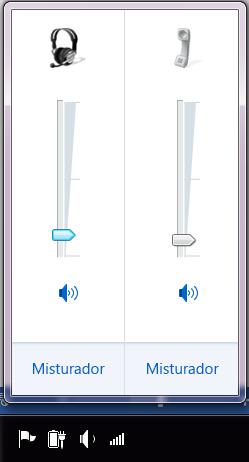 Captura de ecrã do botão de volume