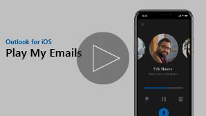 Miniatura de vídeo de um iPhone para reproduzir o vídeo dos meus E-mails