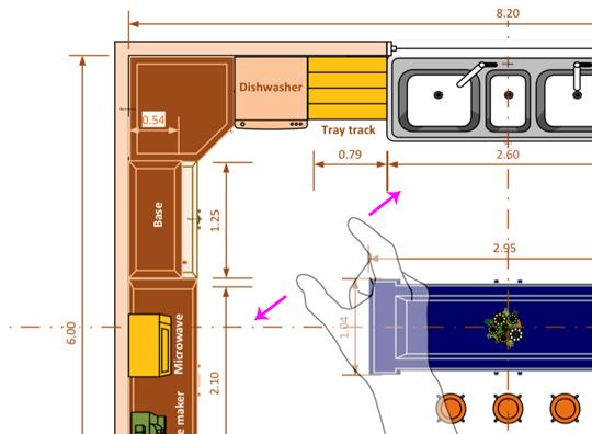 Para ampliar, toque no diagrama com dois dedos e afaste-os.