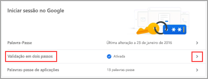 Iniciar sessão no Google