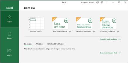 Criar um livro do Excel