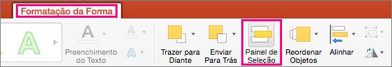 Mostra o separador Formato da Forma no PowerPoint 2016 para Mac