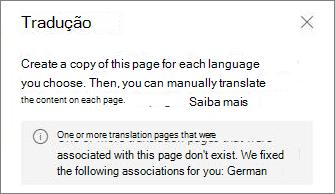 Mensagem de erro de tradução.