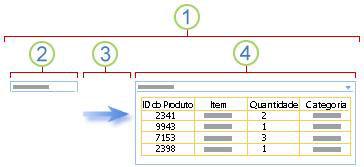 Descrição geral da ligação de uma Peça Web de filtro