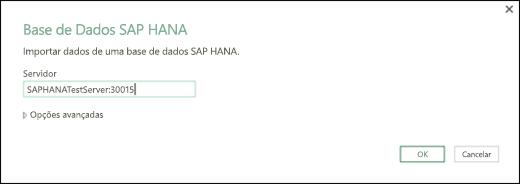 Caixa de diálogo SAP HANA Database