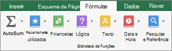 No separador fórmulas, clique em texto.