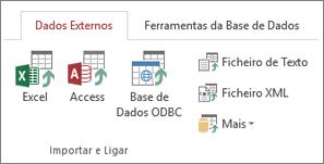 Separador Dados Externos do Access