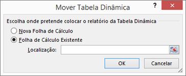 Caixa de diálogo de rotação movendo