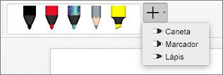 Canetas no Word para Mac