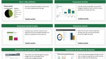 6 imagens de modelos de orçamento acessíveis