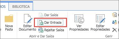 no botão e a ferramenta de sugestão dar entrada do documento