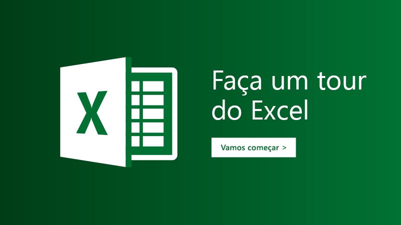 Modelo Faça um tour para o Excel