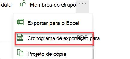 Exporte para PDF