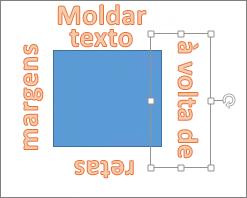Adicionar WordArt à volta de uma forma retangular
