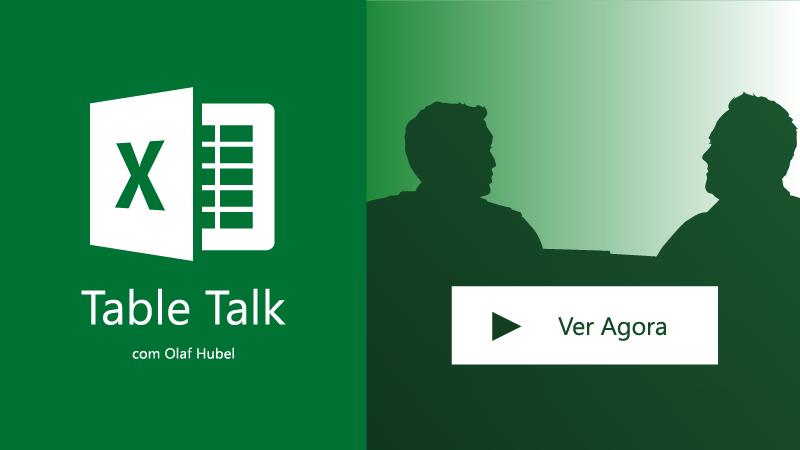 Duas pessoas a falar; Excel Table Talk