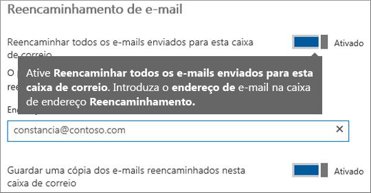 Adicione o endereço de e-mail do funcionário atual.