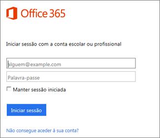 página de início portal.office.com