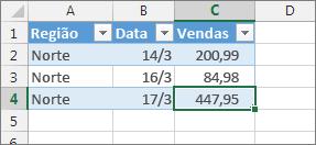 selecione a última célula e prima a tecla de tabulação para adicionar uma nova linha de tabela