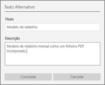 Adicionar texto alternativo a ficheiros incorporados na aplicação OneNote para Windows 10