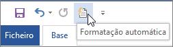Ícone da Formatação Automática