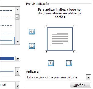 Caixa Pré-visualizar para mostrar limites de página