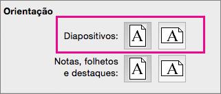 Orientação de Página no PPT para Mac