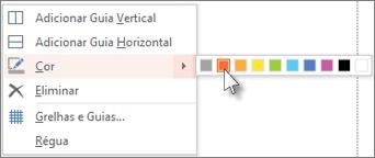 Escolha uma cor para aplicar um código de cores ao guia