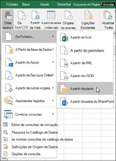 Combinar binários do ficheiro > opção a partir da pasta