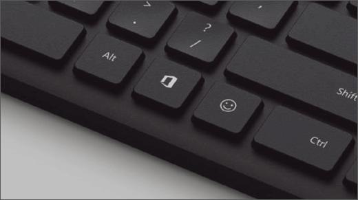 A chave do Office num teclado