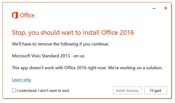 Mensagem de erro a pedir para remover as aplicações antigas