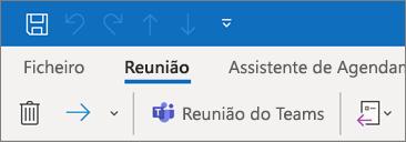 Adicionar uma reunião do Teams a um convite de reunião do Outlook